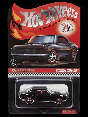 Hot Wheels voiture 2019 rouge ligne Club personnalisé CAMARO Collector édition métal moulé sous pression modèle voitures enfants jouets cadeau