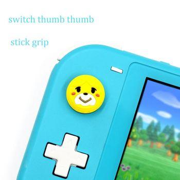 Precio de fábrica adecuado para Nintendo Switch Rocker tapa protectora interruptor Lite silicona tapa protectora bosque de animales Isabel 4 Uds
