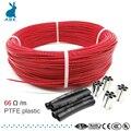 66ohm 6k PTFE огнестойкий нагревательный кабель из углеродного волокна, нагревательный провод, DIY специальный нагревательный кабель для расходн...