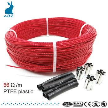 66ohm 6k PTFE flame retardant carbon fiber heating cable heating wire DIY special heating cable for heating supplies