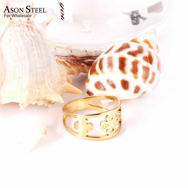 เครื่องประดับหัวใจ Star Moon TOP 316L แหวนสแตนเลสแหวนทองชุดสำหรับหญิงชายหญิงเด็กหมั้นแหวน