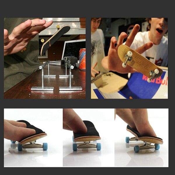 Wooden Finger Skateboards Professional Finger Skate Board Wood Basic Fingerboard With Bearings Wheel Foam Screwdriver