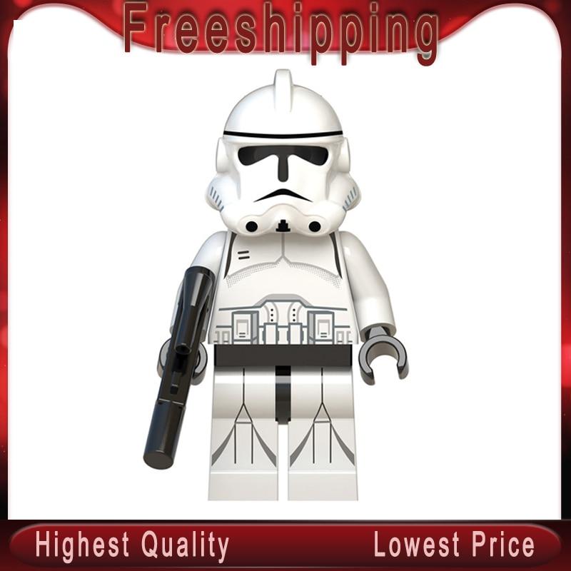 Clone Troopers Star Wars Legoed Building Blocks Obi-Wan Kenobi Emperor'S Royal Guard Darth Vader Children Toys Gifts WM553