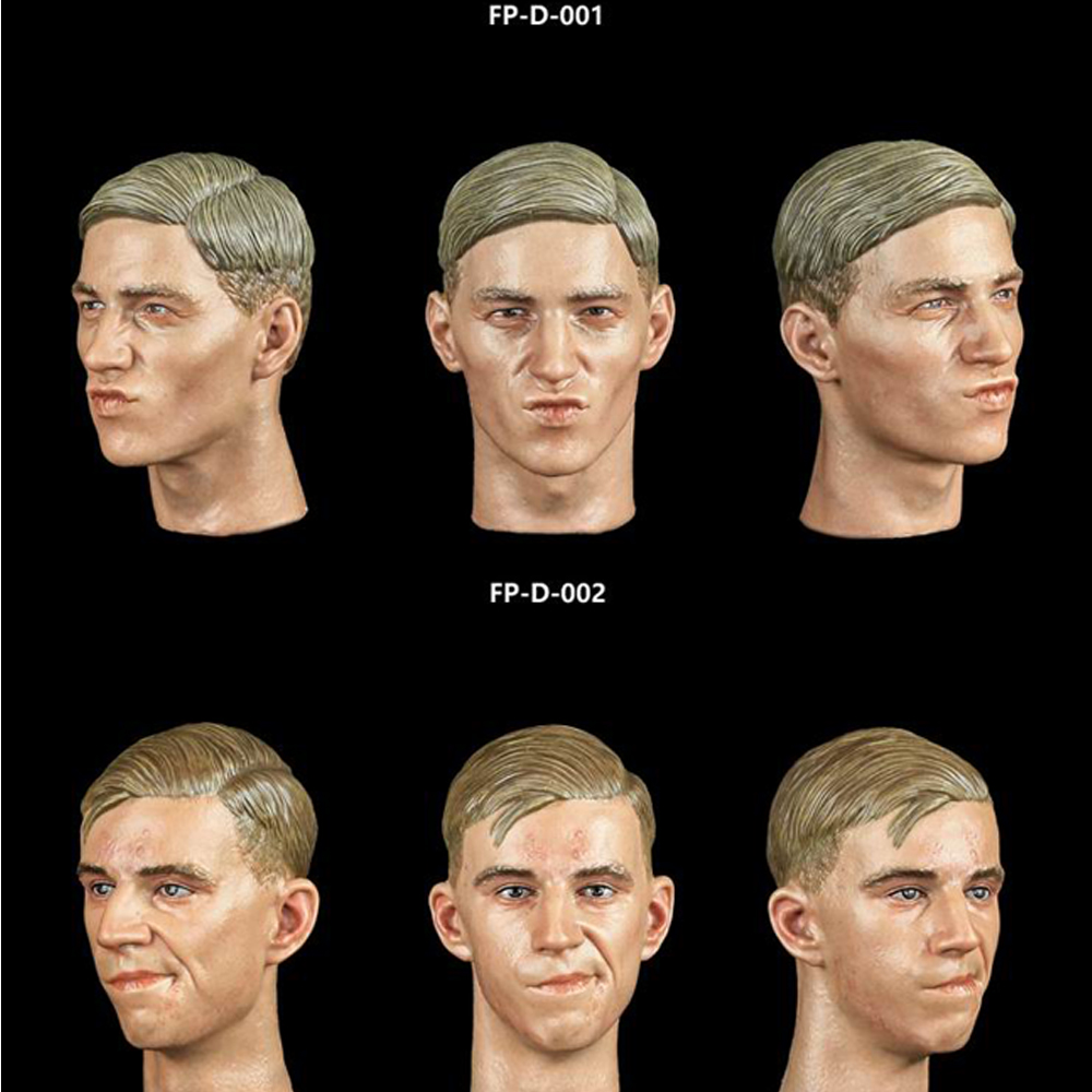 1//6 FP-SP-001 Male Head Sculpt with Expression Head Model Toy Fit 12/'/' Figure