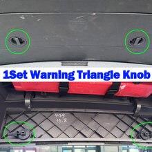 Cubierta triangular de compartimento de advertencia para VW Tiguan 5N MK1 2013-2018, perilla de giro, Clip de bloqueo de montaje, portón trasero