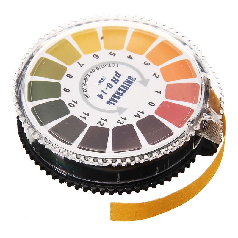 1 Roll 5m Alkaline Acid PH Indicator Paper For Soil Water Urine Saliva Litmus Testing PH 0-14 Portable Test Paper Strip