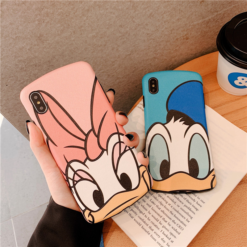 Disney Iphone 11 Case | Matte Daisy Donald Phone Case For Apple Iphone 11 Pro Max Soft Silicon Cover For Iphone XSmax XR 6S 7 8 Plus Couple Coque Fundas