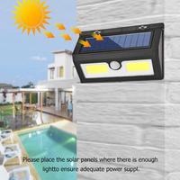 COB 48/55 led czujnik ruchu słonecznego kinkiet wodoodporny ogród lampa uliczna w Lampy solarne od Lampy i oświetlenie na