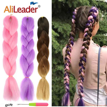 Alileader 102Colors Synthetic Braiding Hair Extensions For Crochet Brai