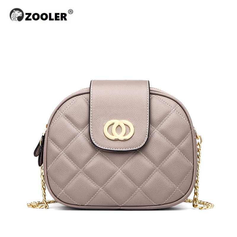 ZOOLER 2019, Сумки из натуральной кожи, женская сумка из коровьей кожи, сумка через плечо с цепочкой, женская сумка-мессенджер, роскошный кожаный кошелек, хит продаж B251