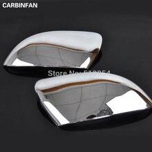 Capas adequadas para vw golf 2009 2010 2011 mk6 touran, asa lateral, espelho, cromado, guarnição traseira acessórios 2 pçs/set