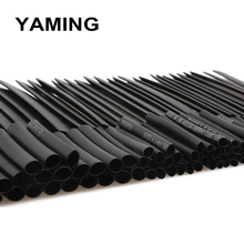 цена на 127pcs/lot Heat Shrink Tubing 7.28m 2:1 Black Tube Car Cable Sleeving Assortment Wrap Wire Kit with Polyolefin Assortment