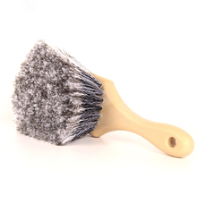 1Pcs New Soft Hair Scratch-Free Wheel/Tire Brush Short Handle Special Design Grey for Clean Tires, Carpets and Floor Mats