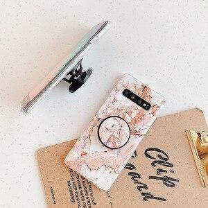 Классический Мраморный чехол для телефона с подставкой-держателем для Samsung S20 A50 A40 A70 A51 S8 S9 S10 Plus Note 10 Pro, мягкий чехол IMD для телефона