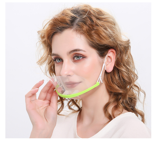 Transparent face mask for catering special anti-fog spray saliva chef spit food hotel plastic kitchen restaurant anti-bacteria f 3
