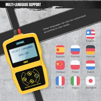AUTOOL 12V Car Battery Diagnostic Tester BT360 Automotive Battery Tester Analyzer Vehicle CCA2400 Analyzer with Russia Polish