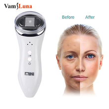 Ultrasonic RF Radio Frequency Lifting Face Neck Skin Massager Mini Hifu Anti Wrinkle Ultrasound Therapy Face Slimming Device
