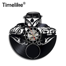Hot Selling Car Logo Vinyl Record Wall Clock Modern design for Gift