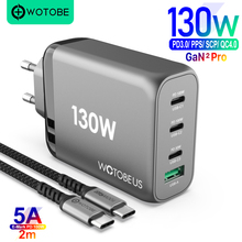 130W גן USB C כוח מתאם, USB C PD100W PPS 45W עבור מחשבים ניידים MacBook iPad iPhone סמסונג, USB QC3.0/SCP עבור HUAWEI XIAOMI