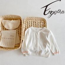 Sweater Coat Thin-Cardigan Spring Knitted Baby-Girl Summer Engepapa 0-3yrs Air-Conditioning-Shirt