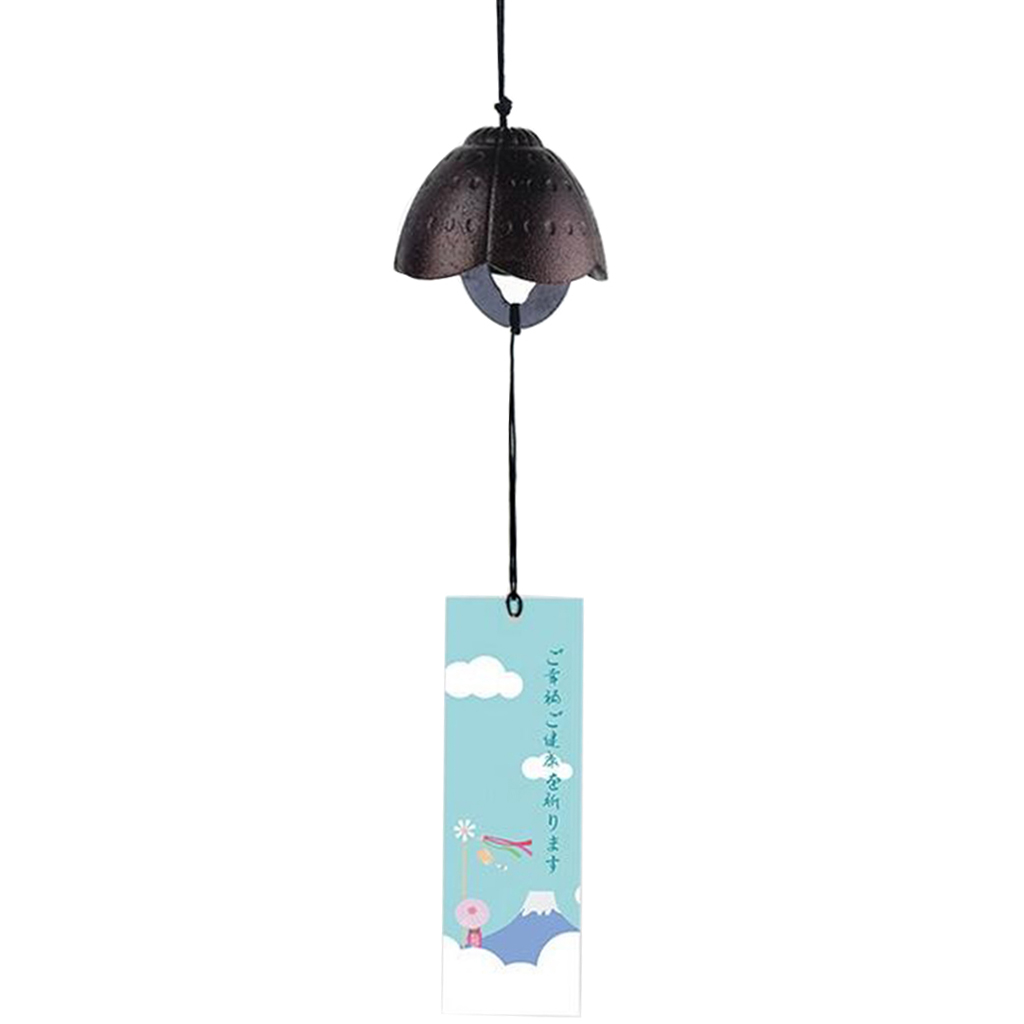 KESOTO Goldfish Japanese Iron Wind-bell Temple Wind-chime Indoor Outdoor Decor Blue