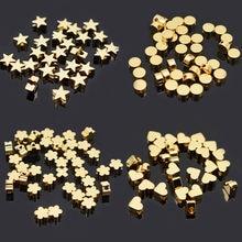 Perles pentagramme en forme de cœur, croix, papillon, 6mm, métal, cuivre, or, pour la fabrication de bijoux, trou de 1.7mm