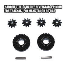 Afstandsbediening Auto Accessoires Harden Staal #45 Diff Bevelgear & Pinion Voor Traxxas 1/10 Maxx Truck Rc Auto(China)