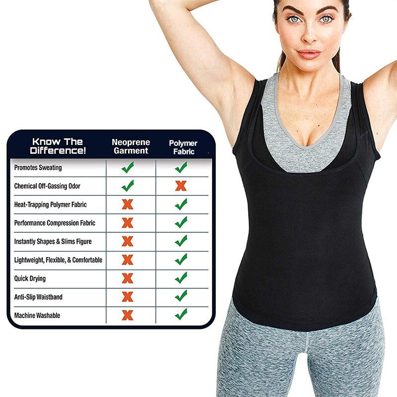 YAJIANMEI Women/'s Slimming Workout Sauna Tank Top Shapewear for Weight Loss