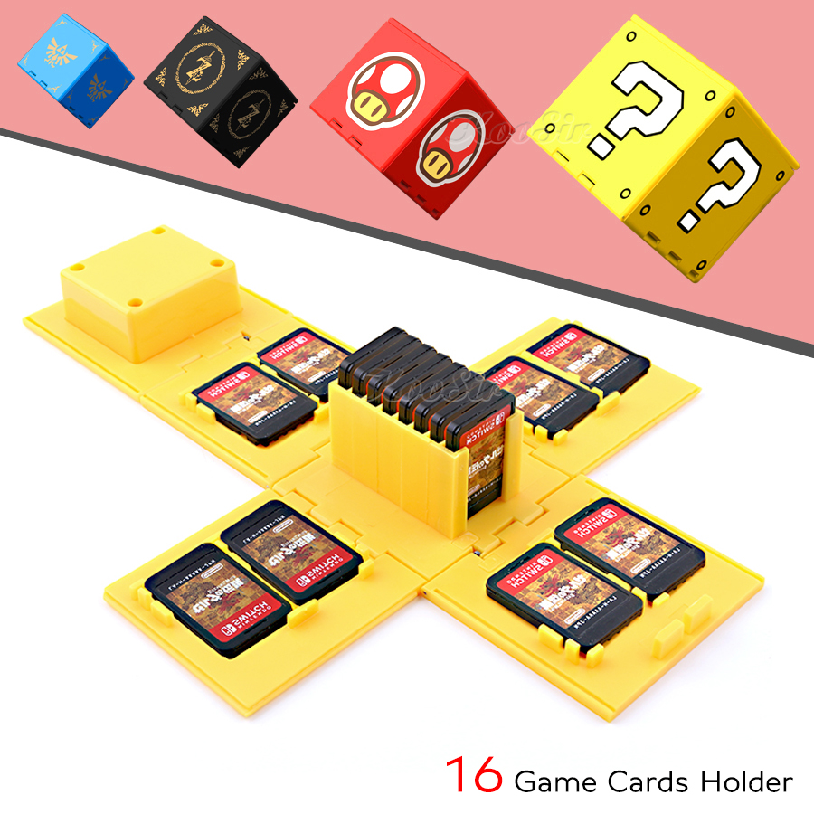 2019 Newest Nintendos Nintend Switch 16 Games Card Box Bag Nintendoswitch Discs Portable Case Cover For Nitendo Switch Card Hold