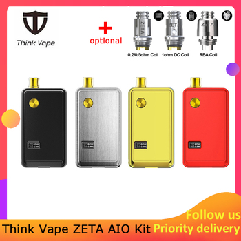 Think Vape ZETA AIO 60W Pod Kit powered by single 18650 battery box mod 3ml tank e-cigarette Big smoke atomizer цена 2017