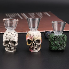 Portable Smoking Skull Glass Pipe Durable Tobacco Pipe Filter Cigarette Holder Gift For Collector Cigar Pipes