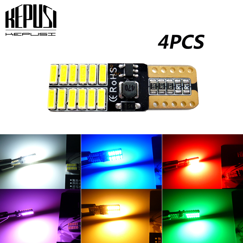 4x 194 8SMD Wedge T10 LED License Bulbs For license Plate Light