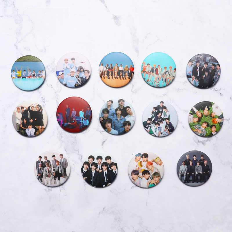 Year-End Clearances KPOP Bangtan Boys Pins Album Brooch Badge Accessories For Clothes Hat Backpack Decoration