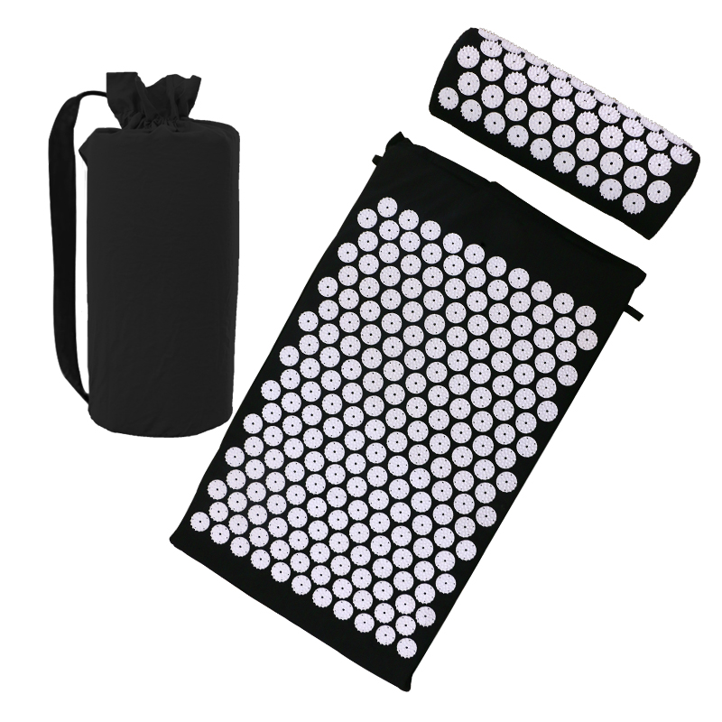 Massage Mat Set With Pillow Acupressure Relieve Stress Back And Neck Pain Relief Relax Body Relaxation Yoga Mat With Pillow