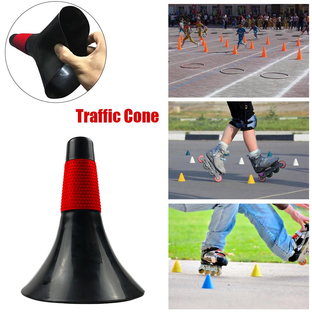 9 Inch PVC Professional Soccer Cones Durable Traffic Cone Sport Training Cones Thickened Live Marking Cones Basketball Cones