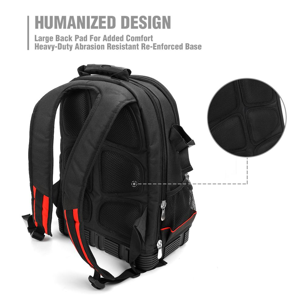 WORKPRO 2020 New Tool Bag Zaino da 17 '' Organizer impermeabile Borsa - Portautensili - Fotografia 3