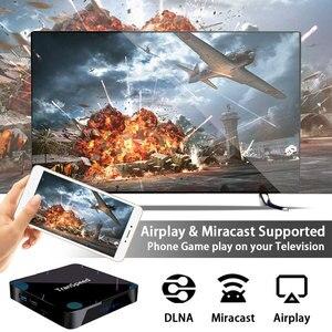 Image 4 - X3 Plus Amlogic S905X3 أندرويد 10.0 صندوق التلفزيون 4GB 32G 64G 128G 100M واي فاي 4K 8K بلوتوث مساعد صوت مجموعة صندوق