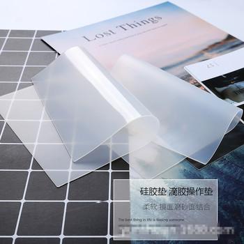 Mata silikonowa przezroczysta podkładka z żywicy narzędzie rzemieślnicze odporna na wysoką temperaturę lepka płyta tanie i dobre opinie Mold Formy 12cm 20cm Food Grade Slilcone Silicone Mold