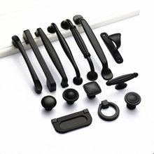 Armário alças de liga de alumínio sólido puxadores de porta e alças armário de cozinha puxa puxadores de gaveta móveis lidar com ferragem