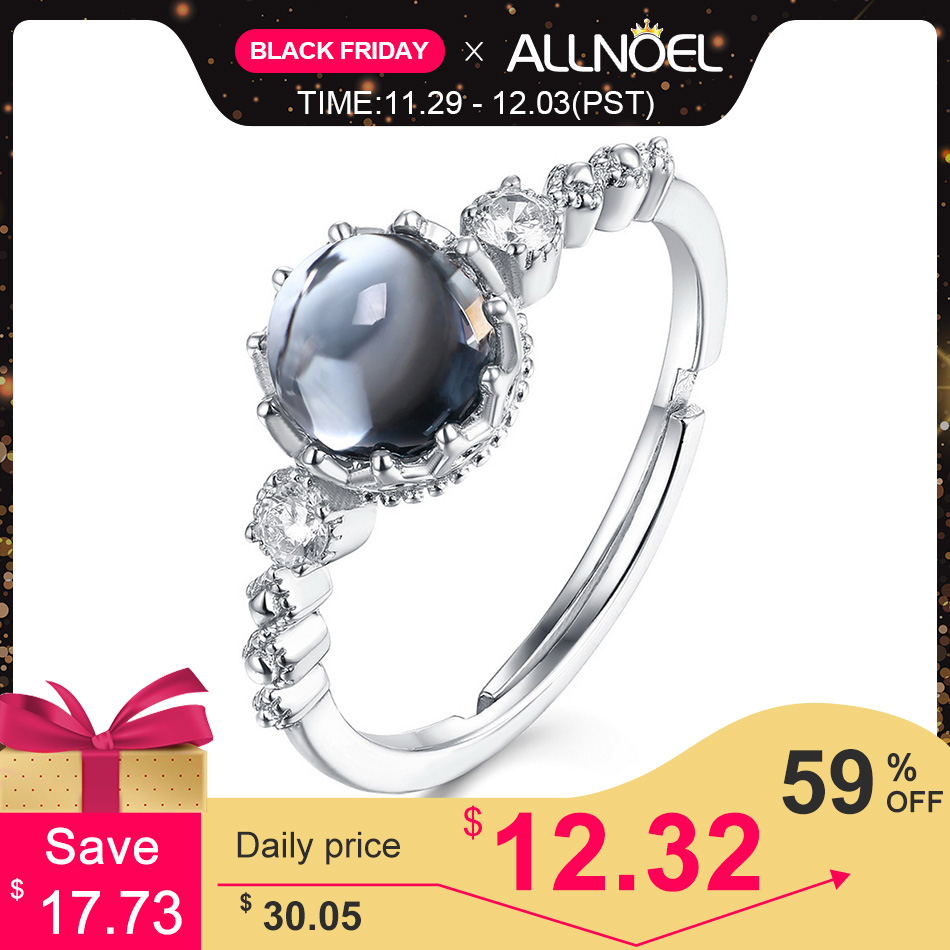 ALLNOEL Genuine 925 Sterling Silver Luxury Gemstone Ring For Women 6*6mm Natural Garnet Topaz Peridot Ring Fashion Jewelry Gift