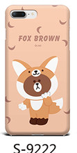 Caso Bling Do luxo Glitter Rhinestone Titular Perfume Adorável fox brown Macio Casos de Telefone Para o iphone 6 6 6s Plus 7 8Plus X XS XR(China)