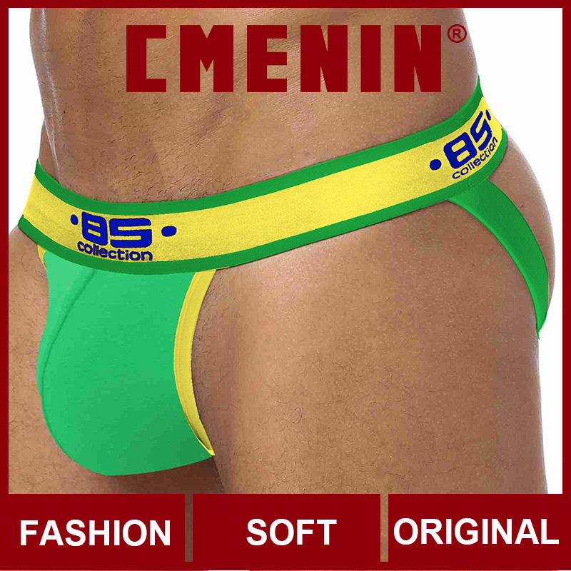 2020 New Solid Cotton Low Waist CMENIN Gay Men Sexy Underwear Thong Men Jockstrap Gay Thongs Mens Thongs And G Strings