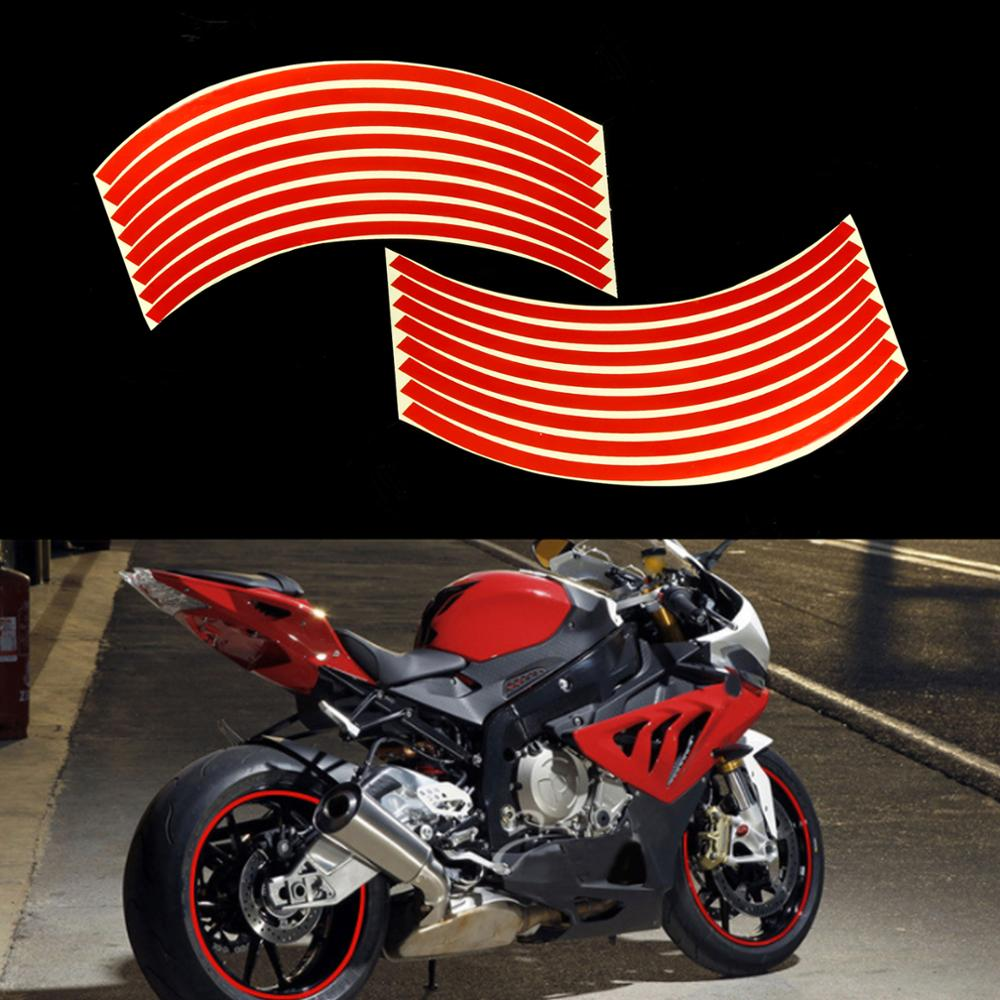 12'' Reflective Motobike Motorcycle Wheel Tape Stickers Rim Decal Stickers
