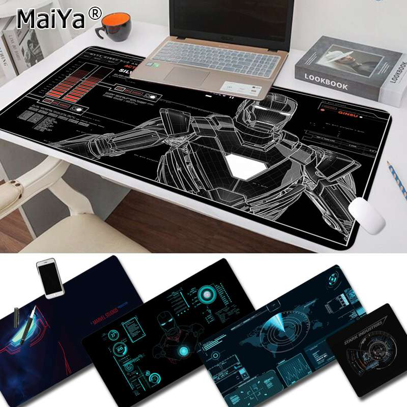 Maiya Marvel Iron Man Jarvis Stark Industries Durable Rubber Mouse Mat Pad Free Shipping Large Mouse Pad Keyboards Mat