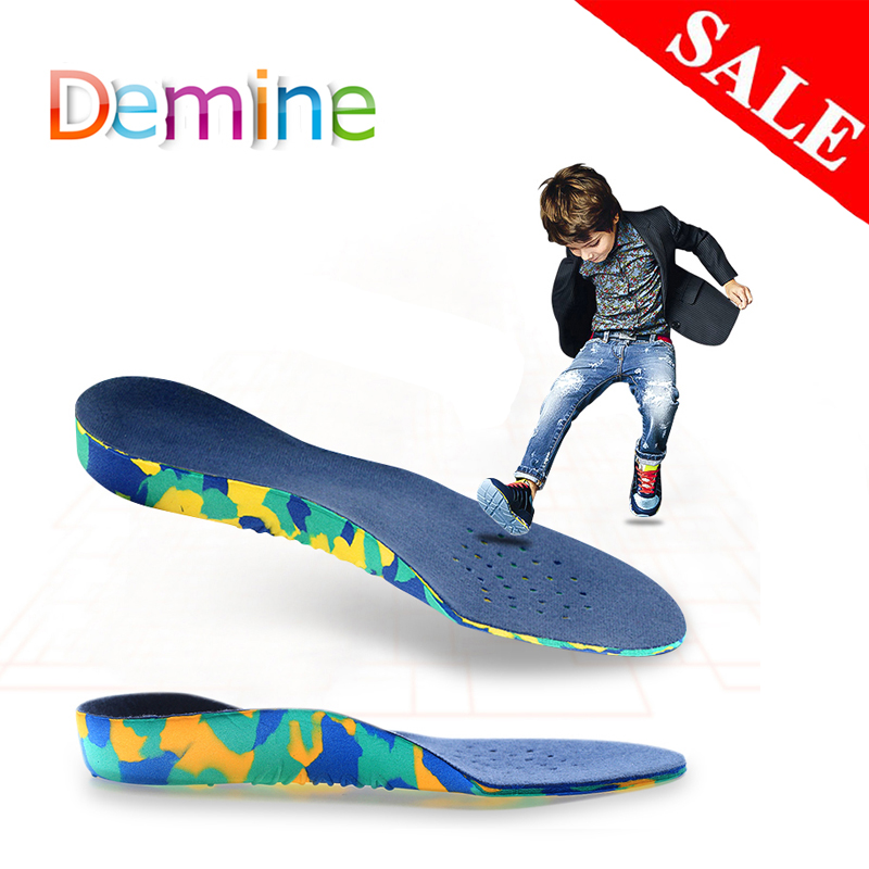 Demine Children Arch Support Orthopedic Insoles For Kid Flat Foot Sport Running Sneaker Correction Shoes Cushion Inserts Pads