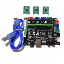 GRBL 1.1 CNC Controller MKS DLC V2.0 GRBL Breakout Plate 3 Axis Steppe Driver Motherboard CNC Engraving Machine Monitor