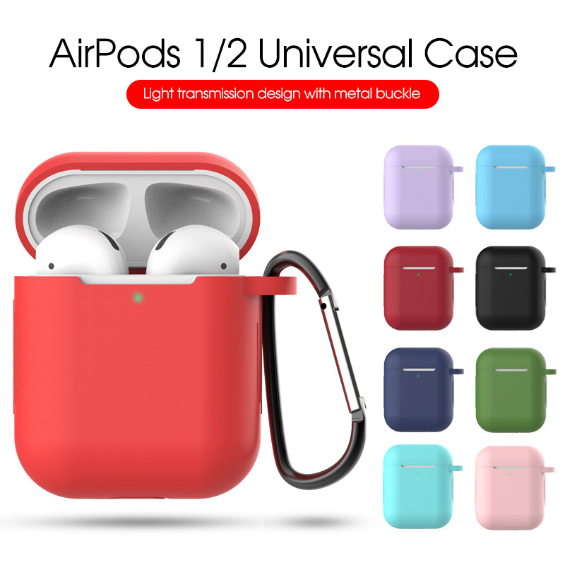 TPU Soft Silicone Case For Apple Air Pods 1 2 Mini Candy Colors Shockproof Ultra Thin Cover for Apple AirPods Accessories