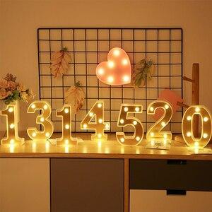 Image 2 - Veilleuse en lettres dor INS LED Alphabet et nombres, décoration pour anniversaire, mariage, saint valentin, 26 lettres anglaises