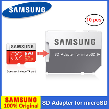 10pcs/Lot Original Samsung Memory Card Adapter microSD/SDHC/SDXC Card Reader SD Adapter with Case for free gift for laptop