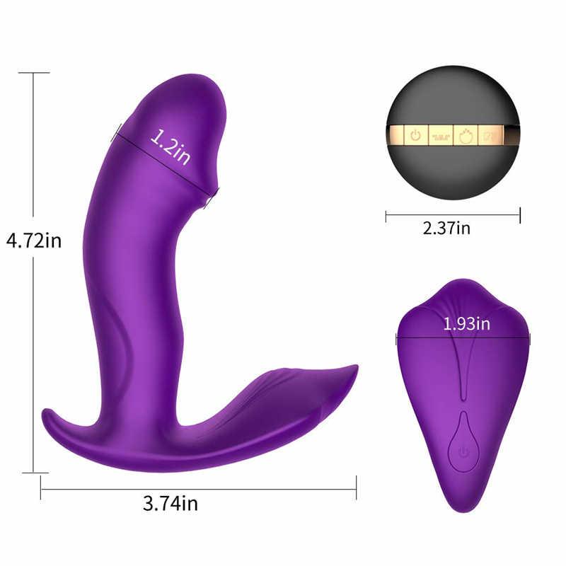 Vibratore della barretta, vibratore con telecomando, vibratore farfalla, massager della prostata, giocattoli del sesso del vibratore per le donne, mutandine di vibrazione